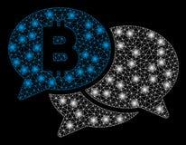Яркие сообщения Bitcoin Webinar ячеистой сети со светлыми пятнами бесплатная иллюстрация