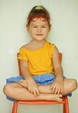 яркие стекла девушки платья Стоковая Фотография RF
