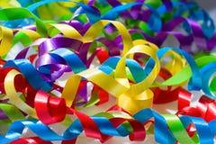 яркие тесемки цвета Стоковые Фото