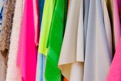 яркие ткани Стоковые Изображения