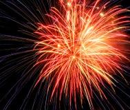 Яркие торжества Eve Новых Годов фейерверков Стоковое Изображение