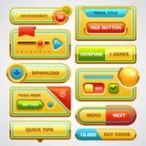 яркие установленные кнопки Стоковые Фотографии RF