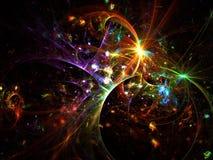 Яркие фейерверки праздника Стоковые Фото