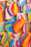 яркие цветастые lollipops Стоковое Изображение
