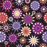 яркие цветки безшовные Стоковые Фотографии RF
