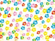 яркие цветки карточки Иллюстрация вектора
