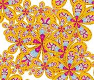 яркие цветки иллюстрация штока