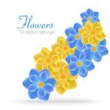 Яркие цветки Стоковое Фото