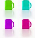 яркие чашки Стоковые Изображения RF