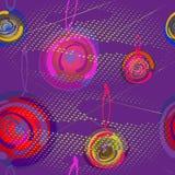 Яркие шарики рождества на сверкная предпосылке пурпура полутонового изображения праздничная картина безшовная бесплатная иллюстрация