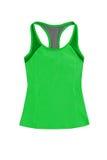 Яркие ые-зелен спорт покрывают при racerback, изолированное на белом backgr Стоковые Изображения RF