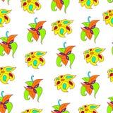 Яркий абстрактный цветочный узор Стоковое Изображение