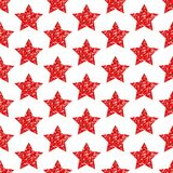 Яркий блеск звезд безшовной картины геометрический красный сверкная бесплатная иллюстрация