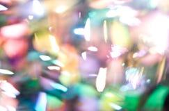 Яркий блеск освещает предпосылку bokeh defocused Стоковые Фото