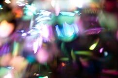 Яркий блеск освещает предпосылку bokeh defocused Стоковое фото RF