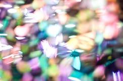 Яркий блеск освещает defocused предпосылку Стоковая Фотография RF