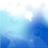 яркий блеск предпосылки голубой Иллюстрация вектора