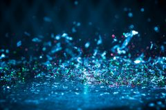 Яркий блеск освещает предпосылку Винтажная искра Bokeh с селективной Стоковое Изображение RF
