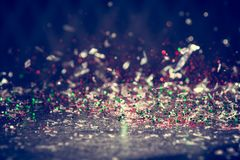 Яркий блеск освещает предпосылку Винтажная искра Bokeh с селективной Стоковая Фотография RF