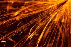 Яркий блеск пирофакела бенгальского огня Стоковая Фотография