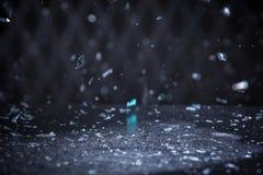 Яркий блеск снега освещает предпосылку Винтажная искра Bokeh с Selec Стоковые Изображения