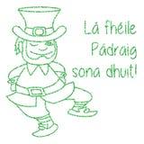 Яркий блеск, шаблон дня St. Patrick confetti Стоковая Фотография