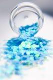 Яркий блеск для искусства ногтя Стоковое фото RF