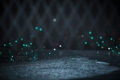 Яркий блеск Teal освещает предпосылку Винтажная искра Bokeh с Selec Стоковые Фото