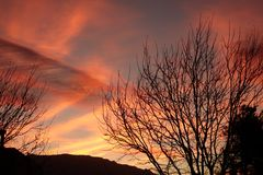 Яркий восход солнца в Неш-Мексико Стоковое Фото