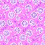 Яркий геометрический одуванчик стиля цветет безшовная картина Стоковые Изображения
