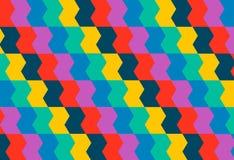 Яркий геометрический орнамент в мексиканском стиле Стоковые Изображения RF