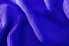 Яркий голубой цвет связал ткань сделанную heathered предпосылки текстурированной пряжей Стоковые Изображения