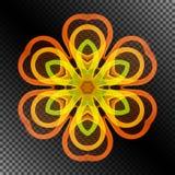 Яркий горящий стилизованный цветок линий бесплатная иллюстрация