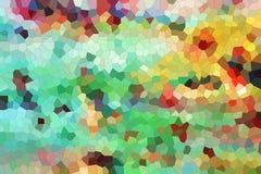 Яркий диамант формирует в оттенках радуги, предпосылке Стоковая Фотография