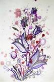 Яркий жизнерадостный букет картины цветков Стоковые Фото