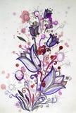 Яркий жизнерадостный букет картины цветков Стоковое фото RF