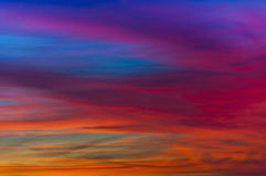 Яркий заход солнца стоковые фотографии rf