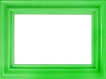 яркий зеленый цвет рамки деревянный Стоковая Фотография RF