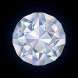 яркий диамант глянцеватый Стоковое Фото