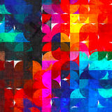 Яркий импрессионизм картины круга Стоковая Фотография