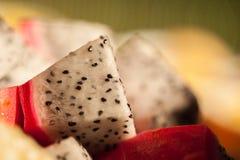 Яркий и живой комплект плодоовощ дракона Стоковое Фото