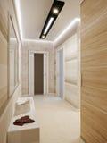 Яркий и уютный дизайн интерьера залы иллюстрация вектора