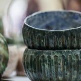 Яркий керамический tableware handmade Стоковое Изображение