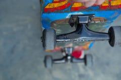 Яркий конец доски конька grunge вверх Стоковая Фотография RF