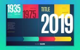 Яркий контраст красит infographic с постепенными infographic диаграммой, коробками, текстом и номерами иллюстрация штока
