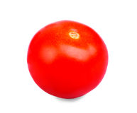 Яркий красный томат без лист, изолированных на белой предпосылке Конец-вверх свежей, сочный, органический, зрелый, томат красного Стоковое Изображение RF