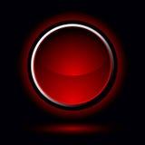 яркий красный цвет кнопки Стоковое Фото