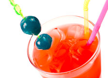 яркий красный цвет макроса коктеила Стоковые Изображения RF