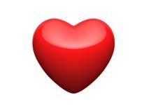 яркий красный цвет сердца Стоковые Изображения