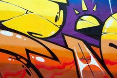 Яркий крупный план граффити Стоковая Фотография